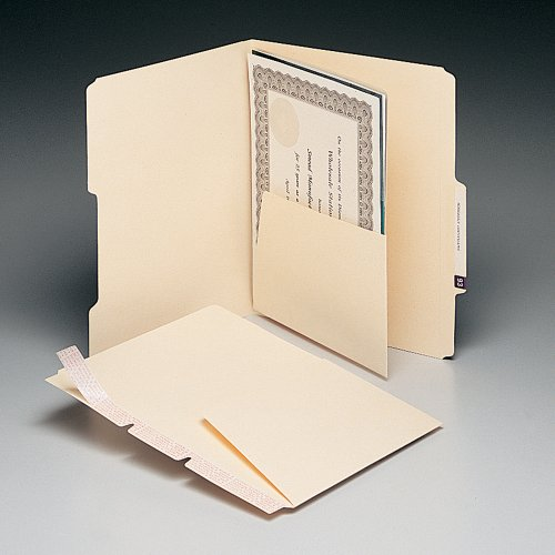 Smead Manila Self-Adhesive Folder Divider With Pockets