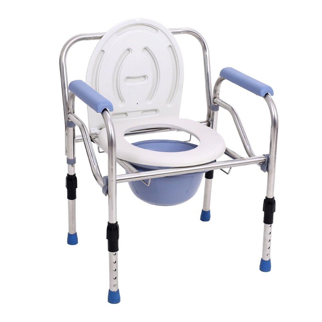 新発売 高さ調整可能な折りたたみ式椅子の椅子滑り止め手すり障害者/妊娠中の女性 B07F8N69GZ/高齢者白ポータブルバスルームシャワースツール便座ステンレス鋼管トイレの椅子Max.150kg B07F8N69GZ, ナラシ:1614edd7 --- arianechie.dominiotemporario.com