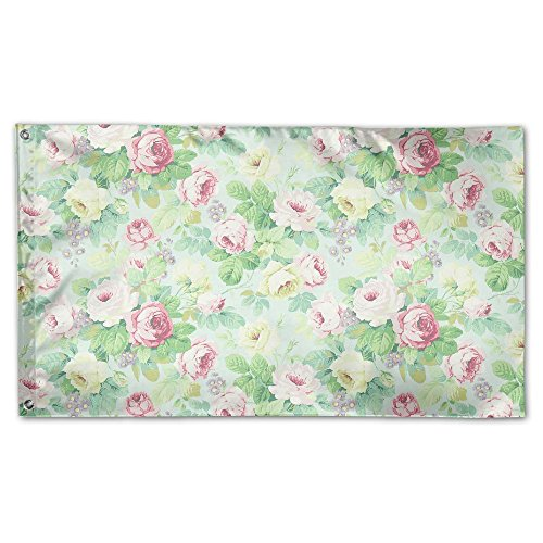 Colby Keats Pink Smal Flower Garden Lawn Flags Indoor Outdoor Decoration Home Banner Polyester Sports Fan Flags 3 X 5 Foot -