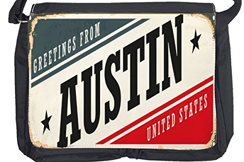 Borsa Tracolla Voglia Viaggiare Città Austin USA Stampato