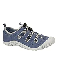 PDQ Womens/Ladies Padded Leather Toggle Sport Sandal