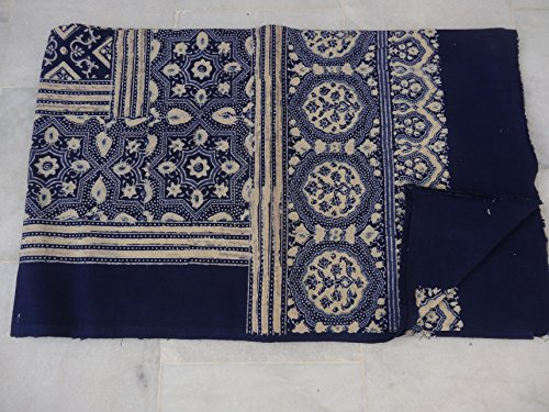 Tribal Asian Textiles New Hand Made Sanganeri 100% Cotton Bed Sheet Block Printed Fabric Bed - Sheet Block Bed Printed Cotton