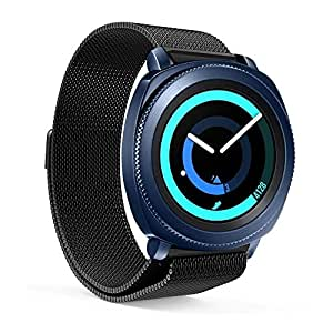 Kartice Compatible Samsung galaxy watch (46mm) SM-R800/SM-R805 Smart Watch 22mmMilanese Loop Stainless Steel Bands, Metal Replacement Bands Compatible Samsung galaxy watch (46mm) SM-R800/SM-R805 Smart Watch(2-Black)