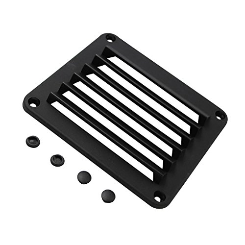 Dovewill New Louvered Vents Round Hose Hull Air Vent Boat Black 5-1/2