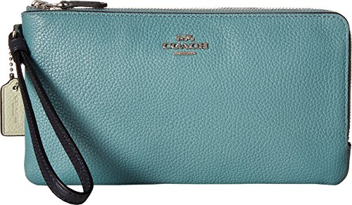 COACH Women's Color Block Double Zip Wallet Sv/Marine Multi One Size by Coach