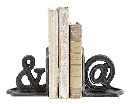 Creative Co-op Vintage Style And &At Cast Iron Bookends - Set of 2 (Bookshelves Tall Foot 8)