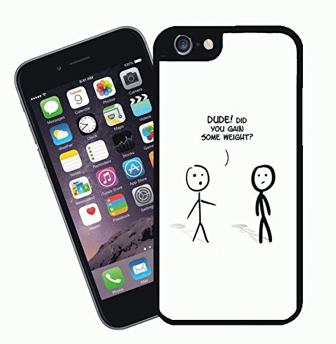Dude did you gain weight? funny - This cover will fit Apple model iPhone 7 (not 7 plus) - By Eclipse Gift Ideas