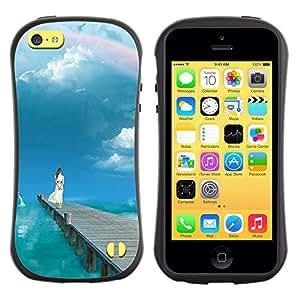 Suave TPU GEL Carcasa Funda Silicona Blando Estuche Caso de protección (para) Apple Iphone 5C / CECELL Phone case / / Nature Beautiful Forrest Green 5 /