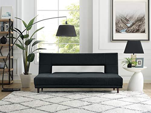 Serta 3 Seat Dylan Convertible Sofa Upholstery Fabric, Charcoal