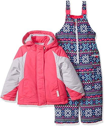 Carter's Girls' Color Block Active 2 Pc Snowsuit with Print Pant