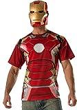Rubie's Men's Avengers 2 Age Of Mark 43' Iron Man T-Shirt and Mask,Multi,X-Large
