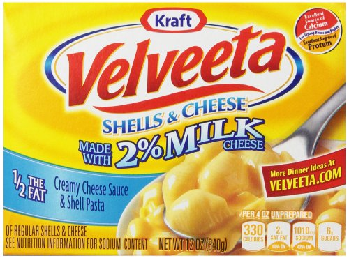 Velveeta Shells & Cheese with Milk (12 oz Boxes, Pack of 6)