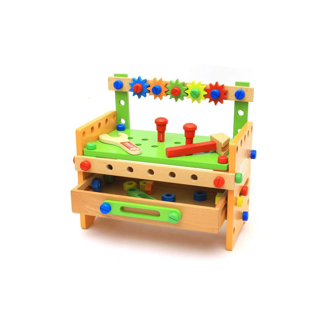信頼 GLJJQMY B07P4M14NM 木のナットの組み合わせ変更ツールテーブル子供の手で分解解体幼児教育玩具 GLJJQMY、36×18.5×23センチ 子供の教育玩具 B07P4M14NM, ショウナイチョウ:93d6379c --- svecha37.ru