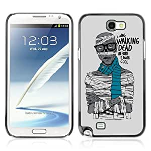 YOYOSHOP [Funny Hipster Zombie Walking Dead ] Samsung Galaxy Note 2 Case