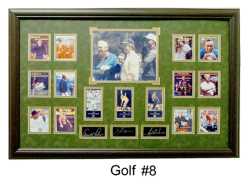(Golf Legends) Ultimate Photo Collage Featuring 16 Photo's W/facsimile Signatures Professionally Matted an Framed to a 24x36 Finished Size Signature Framed Picture