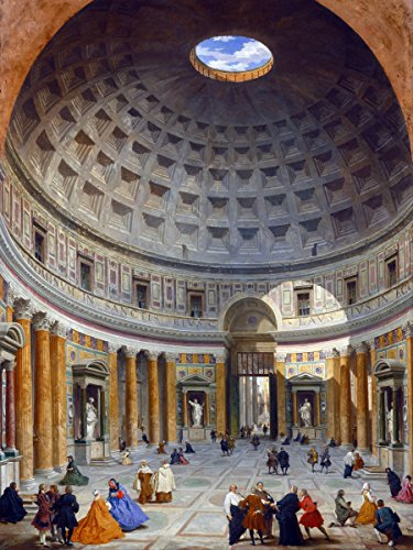 Museum gallery of pictures Interior of the Pantheon by Giovanni Paolo Panini Accent Tile Mural Kitchen Bathroom Wall Backsplash Behind Stove Range Sink Splashback One Tile 6