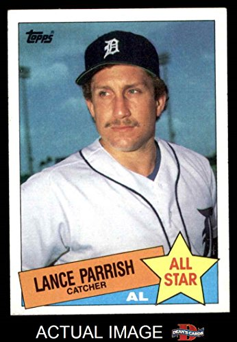1985-Topps-708-Lance-Parrish-Detroit-Tigers-Baseball-Card-Deans-Cards-6-EXMT-Tigers