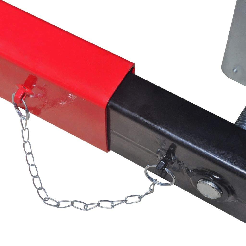 vidaXL Adaptador de Viga Cruzada Modelo Transversal Capacidad 2 Toneladas Rojo