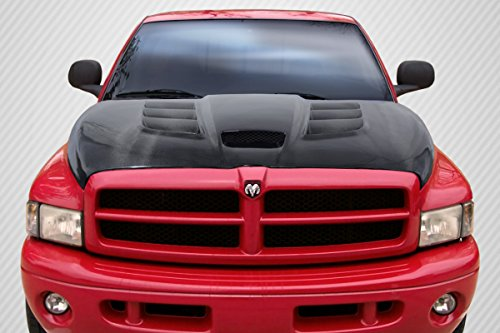 Carbon Creations ED-MQJ-034 DriTech Viper Look Hood - 1 Piece Body Kit - Fits Dodge Ram 1994-2001