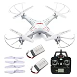 E-wonderful Syma X5C-1 2.4G 6-Axis Gyro Upgraded Version Explorers RC Quadcopter + HD Camera + Spare Parts Extra Battery 720mAh(2Pcs)And 1 Set Main Blades Propellers