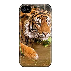 New Fashion Premium Tpu Case Cover For Iphone 4/4s - Tiger