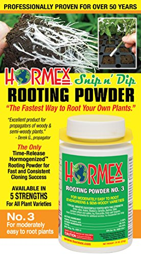 (Hormex Rooting Hormone Powder #3 | for Moderately Easy to Root Plants | Fast IBA Rooting Powder Compound for Strong and Healthy Roots)