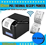 New Thermal Printer 300mm/s - 80mm&58mm POS Dot Receipt Paper Barcode - high-speed, Easy feed