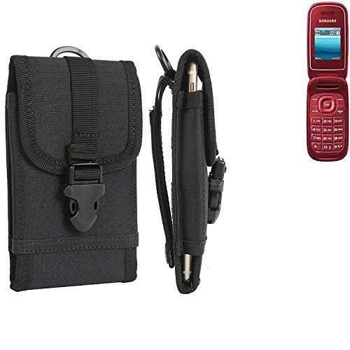 bolsa del cinturón / funda para Samsung GT-E1270, negro   caja del teléfono cubierta protectora bolso - K-S-Trade (TM)