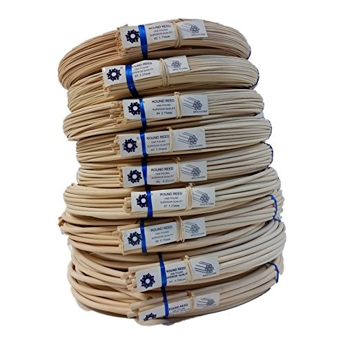 Round Basket Reed (1 Pound Coil of Round Reed, Natural Color, Any Size, #2,3,4,5,6,7,8,9,10 (#3))