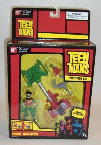 Teen Titans Action Figure Battling Machines Robin Vac-Cycle]()