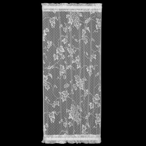 Heritage Lace English Ivy 24-Inch Wide by 72-Inch Drop Sidelight Panel, White by Heritage Lace