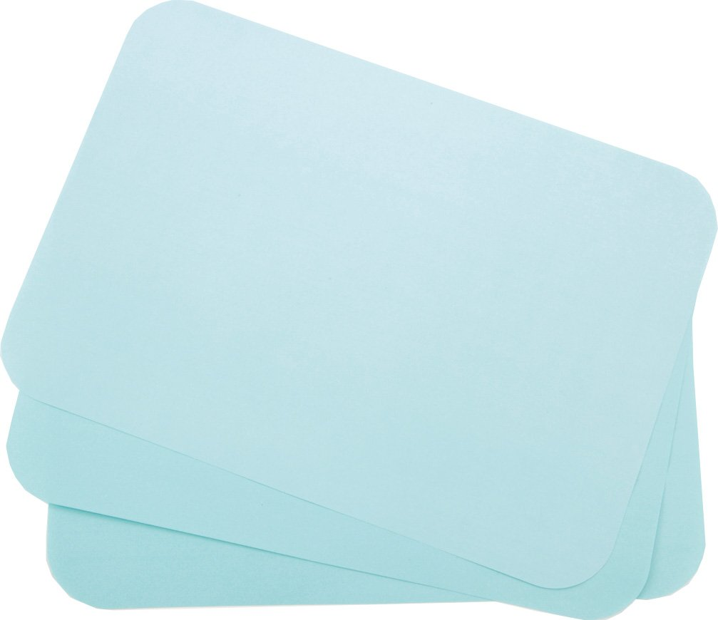 Primo Dental Products TCBBL Tray Cover Ritter, 8.5'' x 12.25'', ''B'' Blue (Pack of 1000)