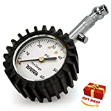 TireTek Premium Tire Pressure Gauge With Integrated Hold Valve - 60PSI