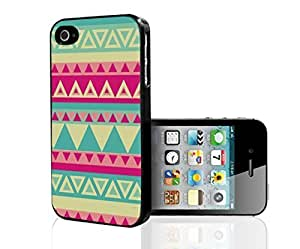 Colorful Pink and Teal Tribal Pattern Hard Snap on Phone Case (iPhone 5s)