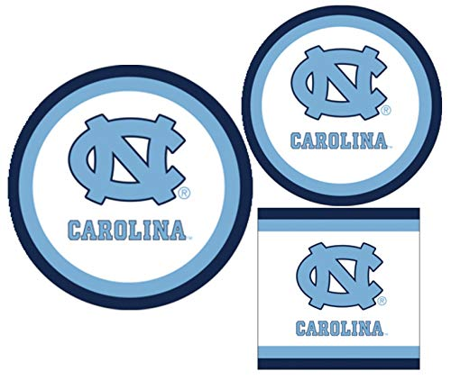 University of North Carolina Tar Heels Party Supply Pack - Bundle Includes Paper Plates and Napkins for 10 Guests
