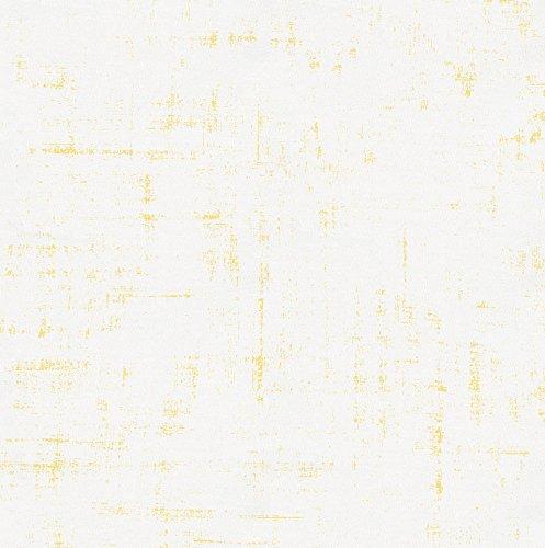 (Carousel Designs Banana Yellow Distressed Fabric by The Yard - Organic 100% Cotton )