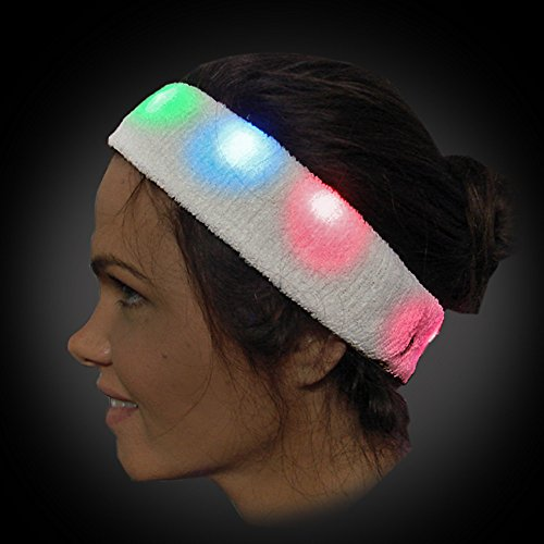 Light Up Flashing Sweat Headband - Just Perfect for Those Night Runs! Orders of 2 or More get F R E E - E X T R A S ! ! !