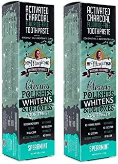product image for My Magic Mud Activated Charcoal Toothpaste for Whitening - SPEARMINT 4 oz (113 g) (2)