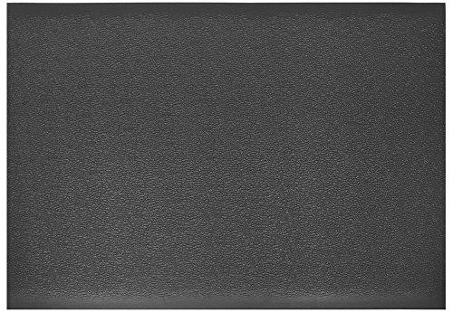 Comfort Step 3/8'' Anti-Fatigue Mat with Pebble Emboss, Solid Black, 3' x 5' by Portico Systems (Image #2)