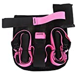 Suspension Straps Fitness (6 Colors) Suspension Body Fitness Trainer HIGH QUALITY, Resistance Home Gym Fitness Strength Training Equipment (Pink)