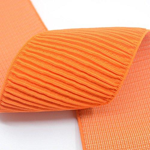 iCraft 3-inch Wide Orange Ruffle Elastic Bands By 3-yard