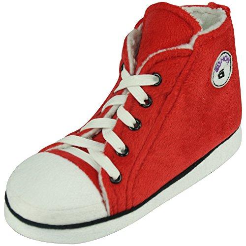 Gohom Women's Christmas Warm Winter Indoor Slipper Boots House Red&Black ZDeyh6Qp