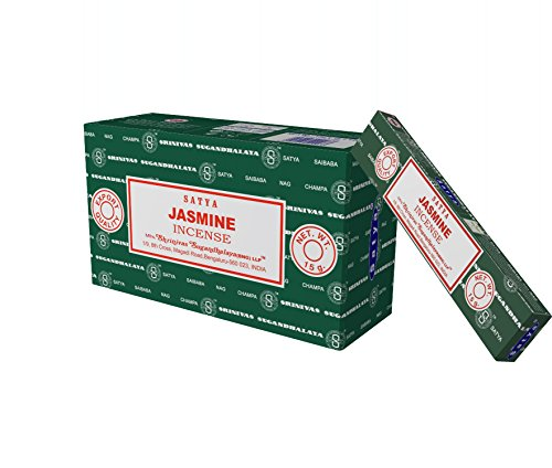 Satya Nag Champa Jasmine Incense Sticks, 12 Count ()