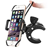 Bike Phone Mount, Sbode Motorcycle Bicycle Handlebar Holder, Universal ATV, 360 Degree Rotatable Cell Phone Mount for iPhone 7/7Plus/6s/6Plus/5S, Android Smartphones(Black)
