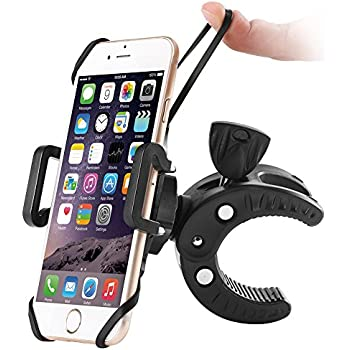 Bike Phone Mount, Sbode Motorcycle Bicycle Handlebar Holder, Universal ATV, 360 Degree Rotatable Cell Phone Mount for iPhone iPhone 8 (X, 7,7s, 5, 5s,6, 6s,Plus), Android Smartphones(Black)