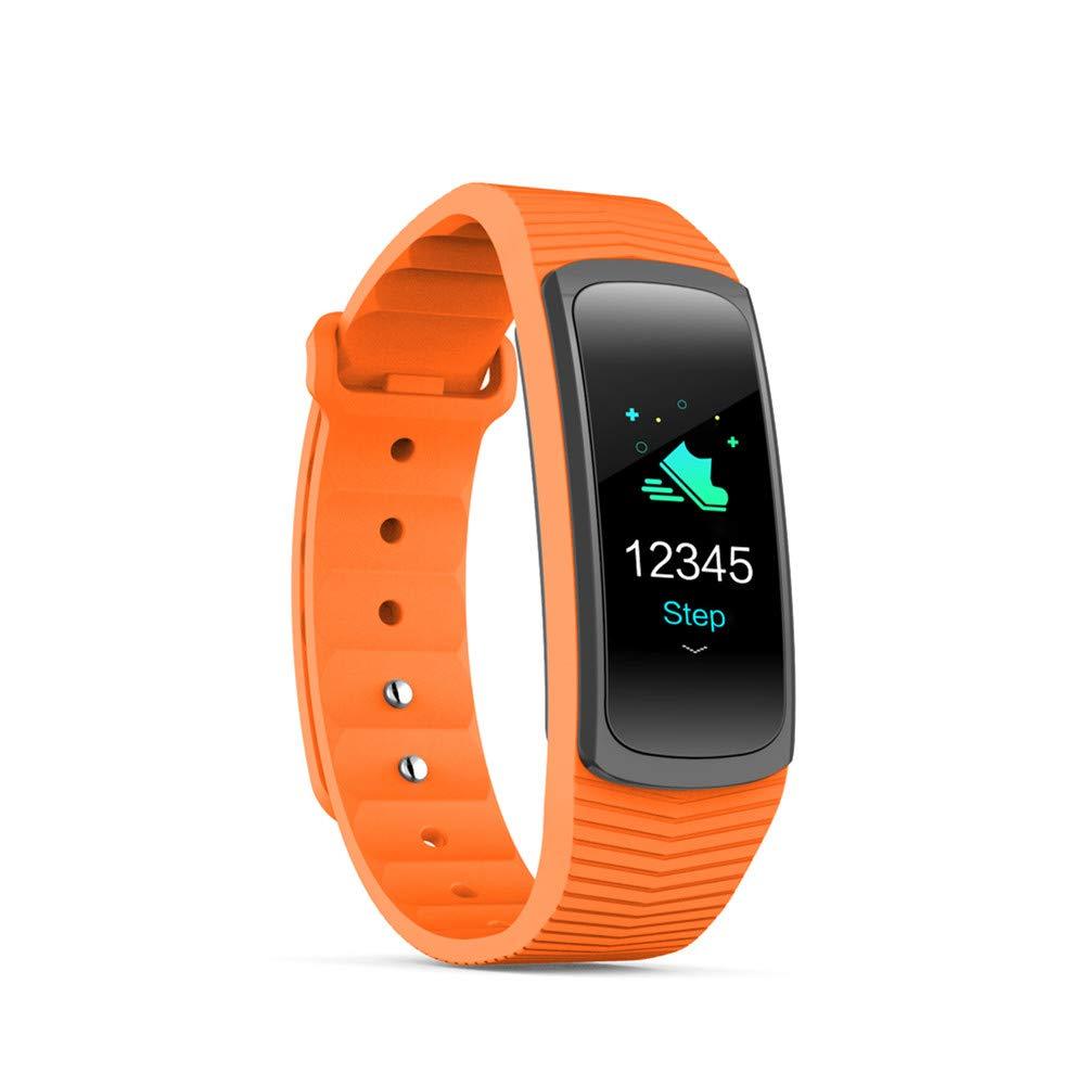 Orange KLPI Bracelet Intelligent Fréquence Cardiaque - Suivi de la santé - étanche - pour Android iOS - Moniteur de Sommeil