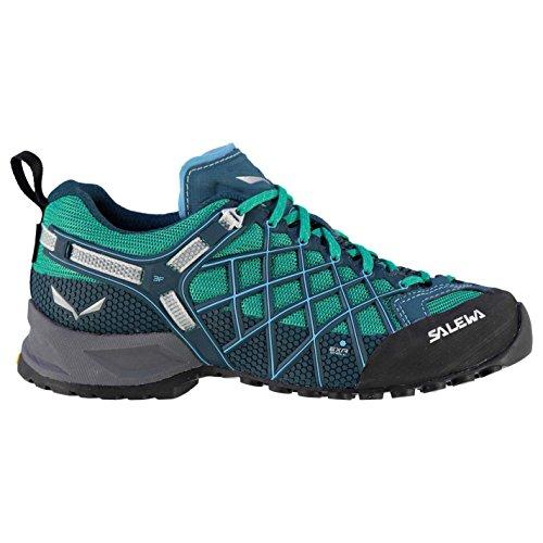 Salewa Mujer Wildlife Low Cordones Gore Tex Zapatos Impermeable Walking Trekking Sky