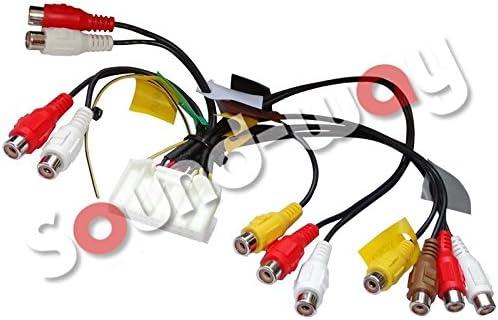 Kabel Anschluss Ausgang RCA Kabel f/ür Autoradio Pioneer