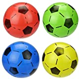 GREATLOVE Mini Sports Ball Beach Ball Inflatable Football, Inflatable Sports Football for Kids,Inflates Party Favors Present-4Pcs