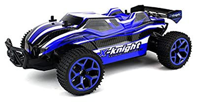 X-Knight Remote Control RC Truggy Truck Buggy 1:18 Scale 4 Wheel Drive 4WD Rechargeable w/ Working Front Suspension (Colors May Vary)